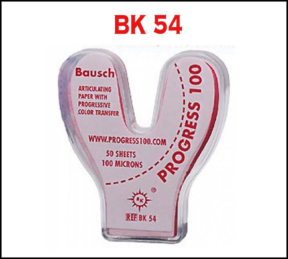 Bausch Articulating Paper Horseshoe Shape 100µ Microns Red - 50/strips