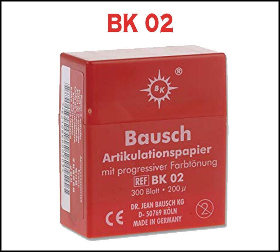 Bausch Articulating Paper 200 µ with Dispenser Red 300 strips