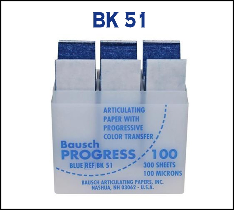 Bausch Articulating Paper 100 µ with Dispenser Blue 300 strips