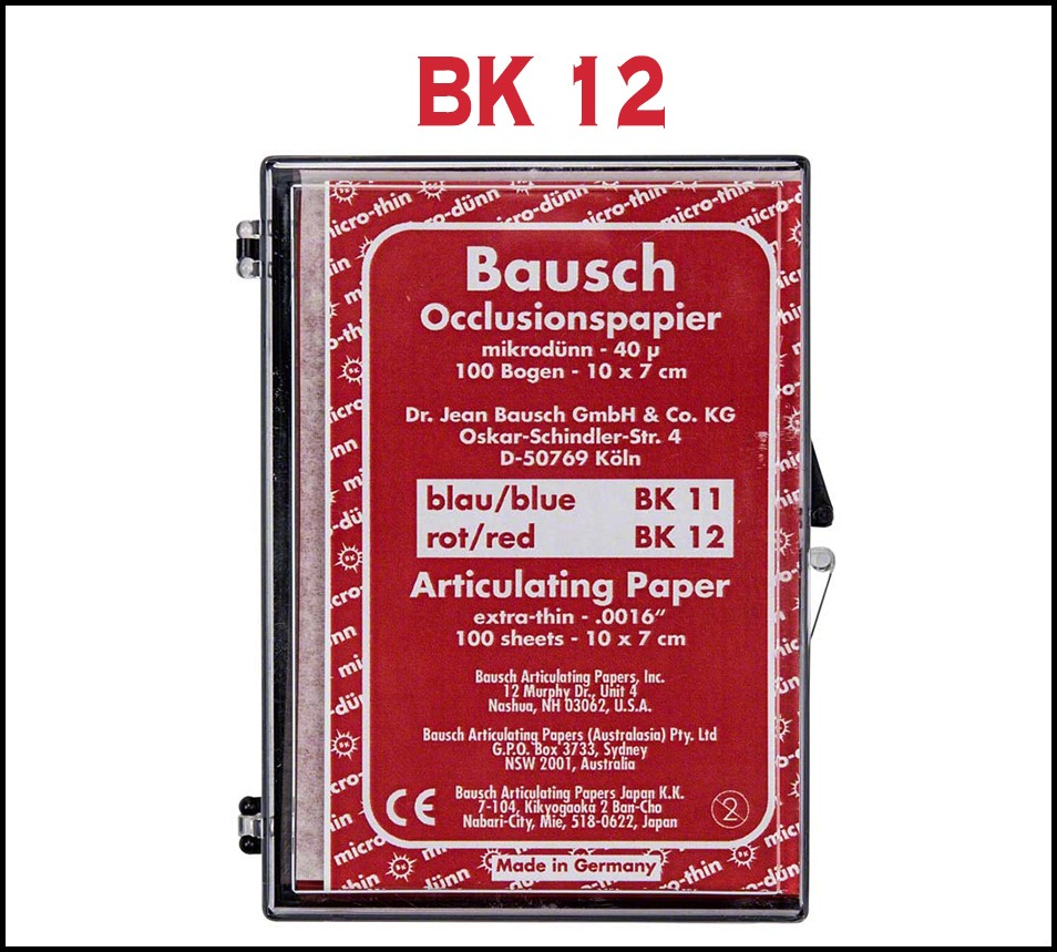 Bausch Articulating Paper Sheets 40µ 100 x 70 mm Red 100 sheets