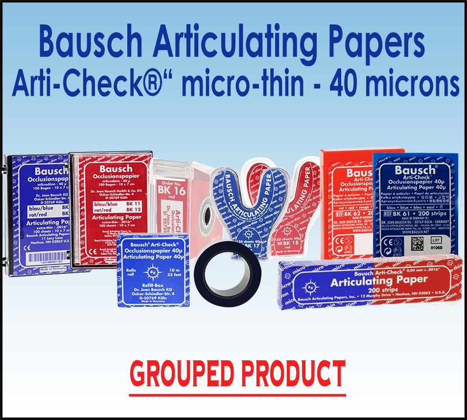 Bausch 40µ Microns Arti-Check Articulating Papers Micro Thin