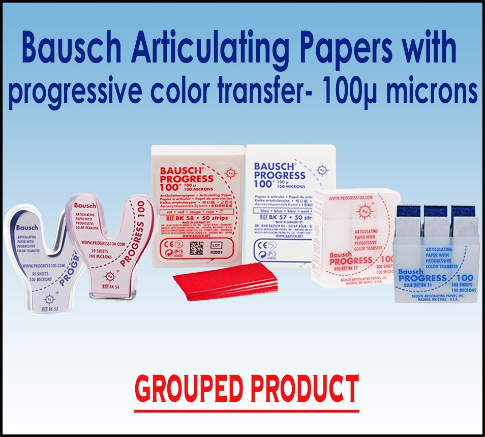 "Bausch 100µ  Articulating Paper  ""Progress 100"" with progressive color transfer"
