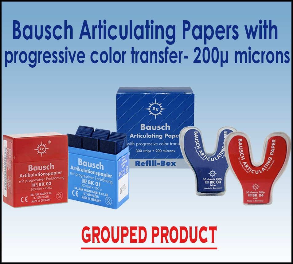 Bausch 200µ  Articulating Paper with progressive color transfer